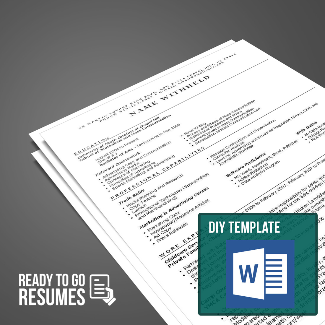 Federal Resume DIY Template Ready To